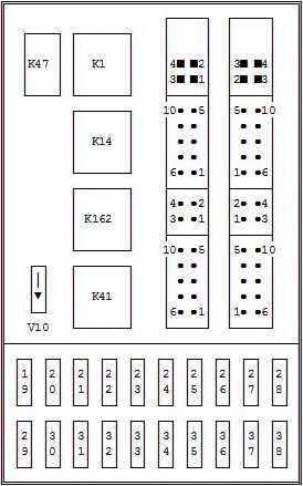 ford mondeo 1996 2000 fuse box diagram auto genius. Black Bedroom Furniture Sets. Home Design Ideas