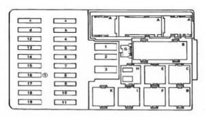 Marcedes S class w123 -fuse box diagram