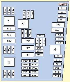 Volkswagen Golf mk5 - fuse box diagram - Auto Genius on panel box layout, circuit breaker box layout, battery box layout, control box layout, display box layout,