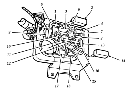 ford aerostar second generation (1991 - 1997) – fuse box ... 1997 ford ranger fuse box diagram under hood