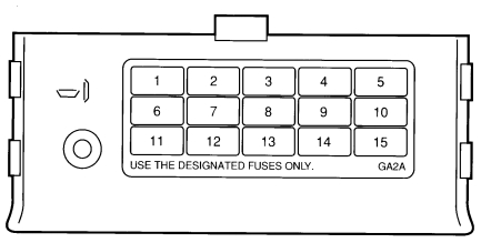 Ford Probe mk2 (1992 - 1997) - fuse box diagram - Auto GeniusAuto Genius
