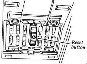 ford aspire  1993 - 2000  - fuse box diagram
