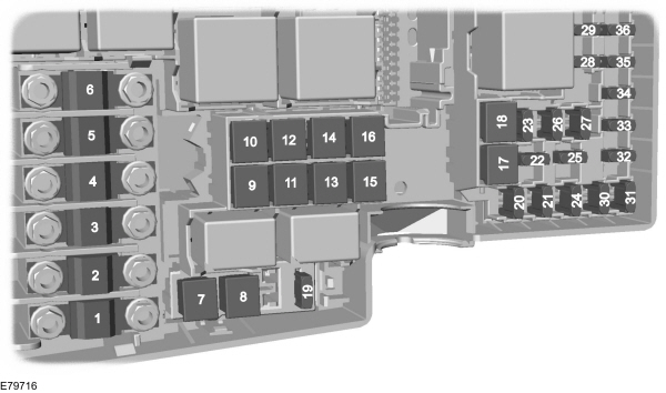 Ford C MAX mk1 2003 2010 fuse box diagram EU