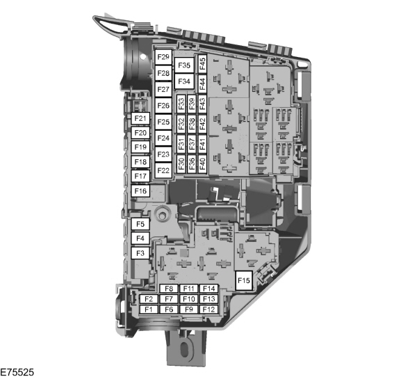 Ford S-max Mk1  2006 - 2015  - Fuse Box Diagram  Eu Version