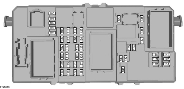 ford focus eu c307 2007 fuse box passeneger compartment ford focus eu (c307) (from 2007) fuse box (eu version 2008 focus fuse box diagram at fashall.co