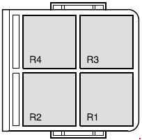 Ford Fusion - fuse box diagram - engine compartment relay box