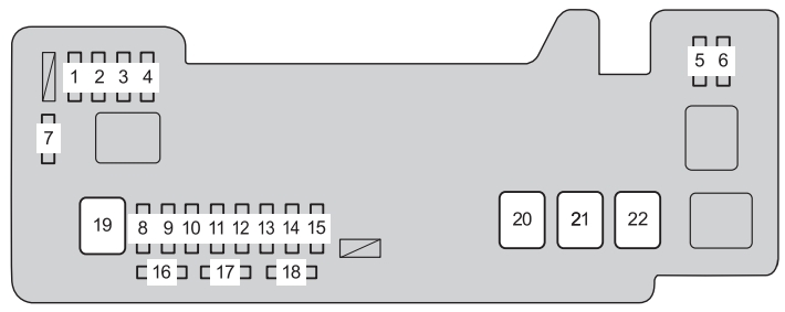 Toyota Aygo  Ab10  2012 - 2014  - Fuse Box Diagram