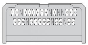 Toyota Corolla mk11 - fuse box - instrument panel - type A