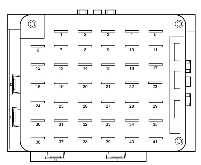 lincoln continental mk9 (1999 – 2002) – fuse box diagram