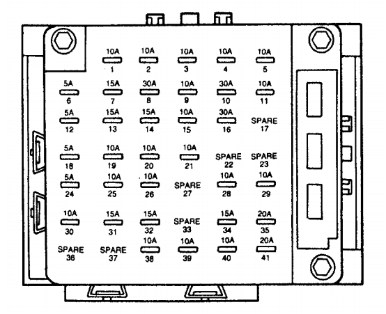 1998 lincoln continental fuse box diagram lincoln continental mk9 (1996 - 1998) - fuse box diagram ...