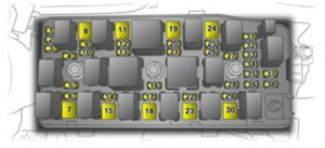 Opel Antara - fuse box - engine compartment
