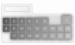 Opel Agila mk2 - bezpieczniki - deska rozdzielcza