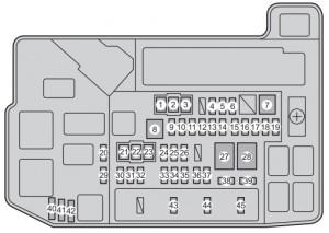Toyota Prius Plug-in hybrid - fuse box - engine compartment