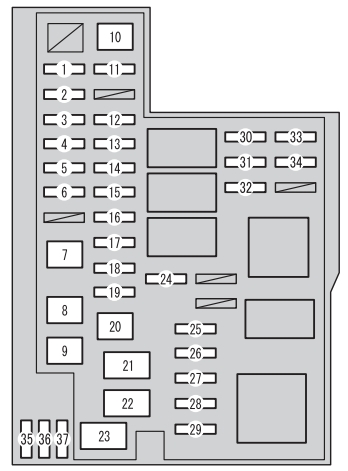 Toyota Rav Mk Fuse Box Engine Compartment Type A on 2014 Chrysler Town And Country Fuse Diagram