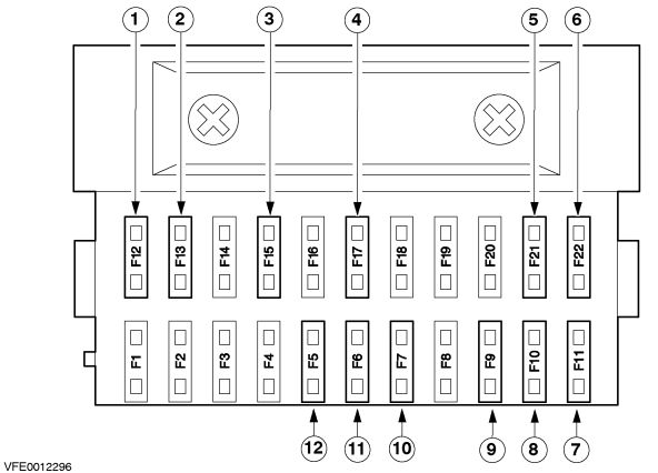 Ford Bantam  2002 -2011  - Fuse Box Diagram