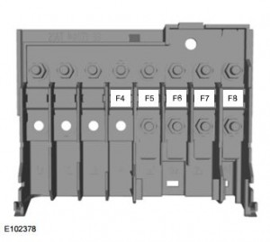 Ford Fiesta Classic (2010) - fuse box - engine compartment (India version)