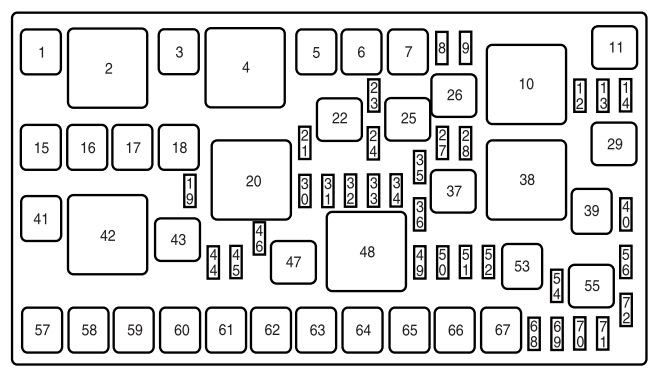 lincoln mkx  2006 -2010  - fuse box diagram