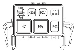 lincoln mark lt first generation 2006 2008 fuse box diagram lincoln mark lt fuse box auxiliary relay box