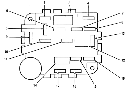 lincoln mark viii (1996 – 1998) – fuse box diagram