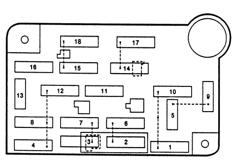 Lincoln Town Car (1992 - 1997) - fuse box diagram - Auto Genius