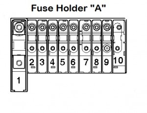 Volkswagen Transporter T5 ESSENTIALS - fuse box - holder A