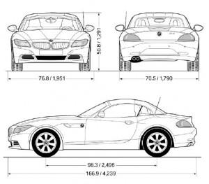 BMW-Z4-sDriver30i-sDriver35i-dimensions
