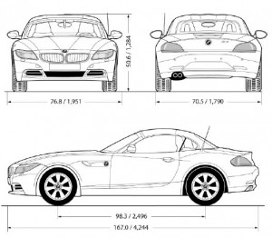 BMW Z4 sDriver35is - dimensions