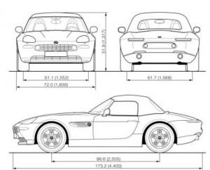 BMW Z8 E52 - dimensions