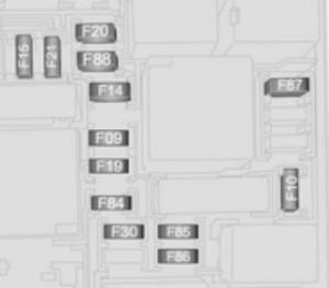 Opel Combo D (2012) - bezpieczniki - komora silnika