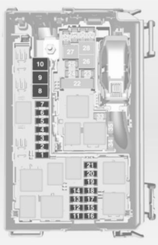 vauxhall meriva b 2012 2016 fuse box diagram auto. Black Bedroom Furniture Sets. Home Design Ideas