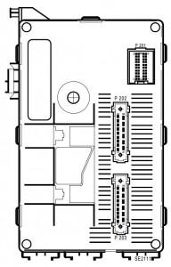 Renault Clio 2 - bezpieczniki - moduł zespolony - kabina