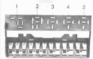Volkswagen Beetle (1954 - 1979) - fuse box
