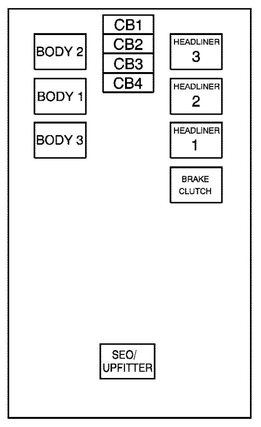 chevrolet avalanche  2007  - fuse box diagram