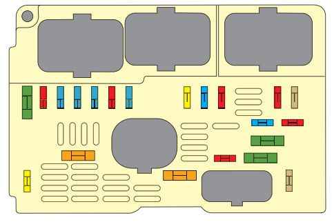 citroen c5 ii mk2 from 2008 fuse box diagram auto genius fuse box in engine compartment citroen c5 mk2 bezpieczniki komora silnika