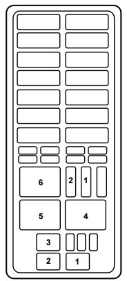 mercury mountaineer first generation (1996 2001) fuse box 1999 mercury mountaineer fuse box diagram at 1999 Mercury Mountaineer Fuse Box Diagram