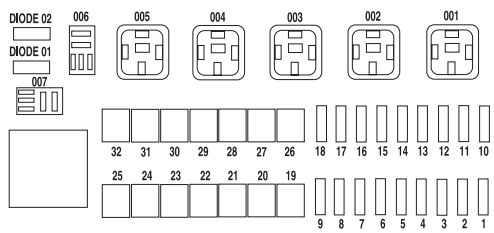 mercury mariner hybrid 2006 2010 fuse box diagram auto genius mercury mariner hybrid 2006 2010 fuse box diagram