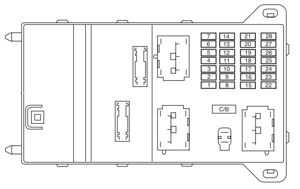 mercury milan  2005 - 2009  - fuse box diagram