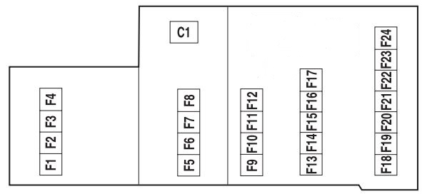 Mercury Montego  2005  - Fuse Box Diagram