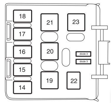 Mercury Mountaineer Second Generation Fuse Box Diagram on fuel pump battery