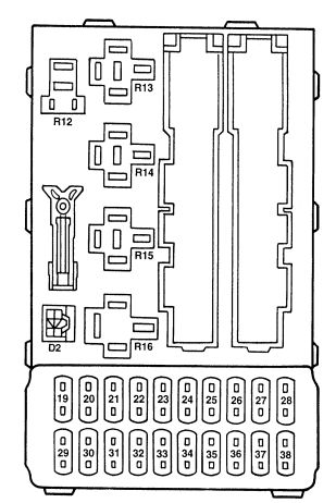 mercury mystique (1995 1996) fuse box diagram auto genius 99 mercury mystique fuse box mercury mystique fuse box #3
