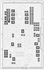 vauxhall astra gtc  2011 - 2012  - fuse box diagram