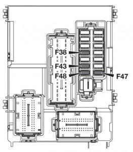Alfa Romeo 4C - fuse box - passenger compartment