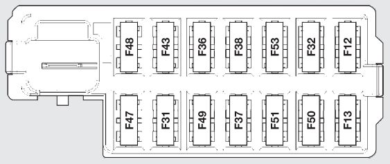 fiat 500 2010 2014 fuse box diagram auto genius rh autogenius info Vehicle Fuse Box Electrical Panel