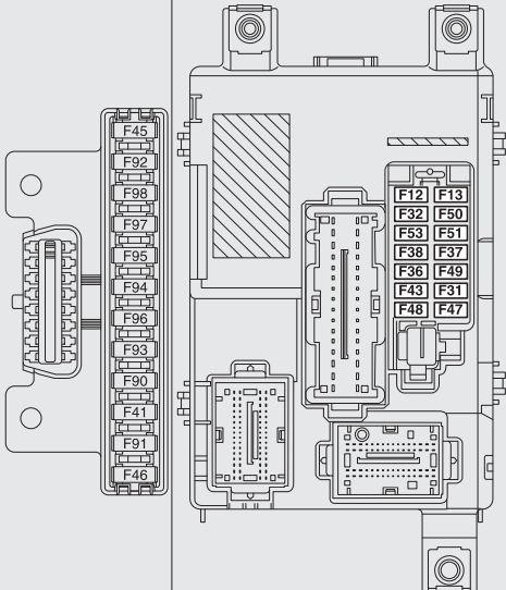 Fiat Doblo Combi Cargo mk2 from 2009 fuse box diagram