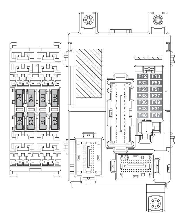 Fiat doblo mk2 fl fuse box passenger compartment fiat doblo combi cargo mk2 fl (from 2014) fuse box diagram  at gsmx.co