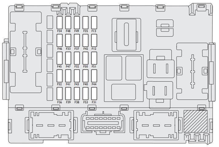 Fiat Linea  2007 - 2013  - Fuse Box Diagram