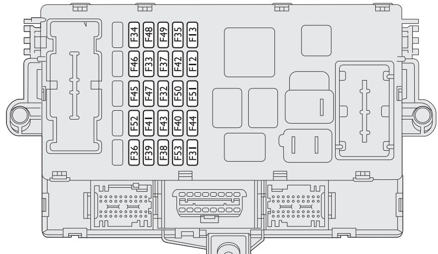 Fiat Stilo  2001 - 2008  - Fuse Box Diagram