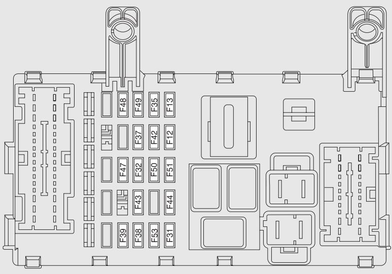 fiat strada  2007 - 2017  - fuse box diagram