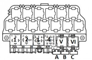 1997 F150 Fuse Box Diagram in addition 99 Volkswagen Pat Wiring Diagram additionally Wiring Diagram Mercedes W204 additionally Volkswagen Transporter T5 Essentials From September 2009 Fuse Box Diagram also Partslist. on auxiliary fuse relay box