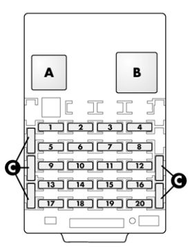 Alfa Romeo 166 FL (2003 - 2007) - fuse box diagram - Auto Genius on